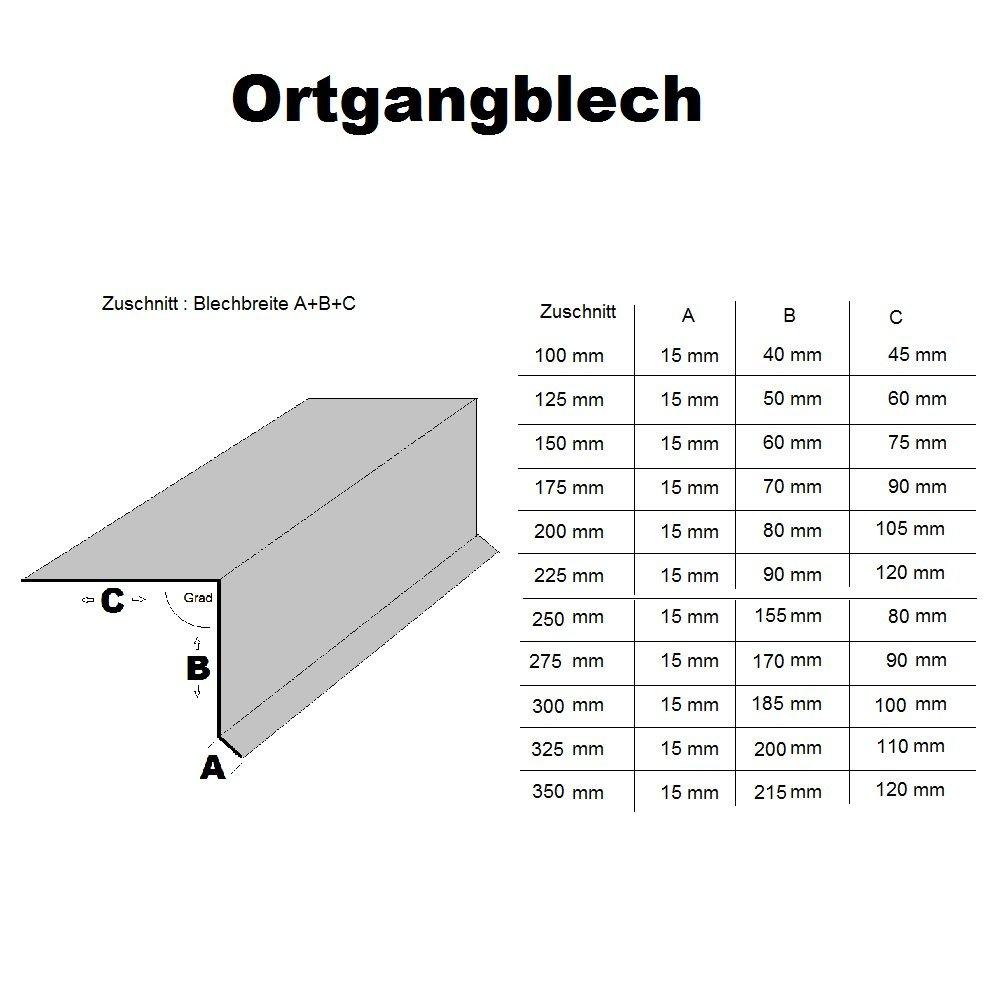 Chapa para visera de tejado, 200 cm de longitud, acero galvanizado, RAL7016, 90º , color gris antracita designbleche
