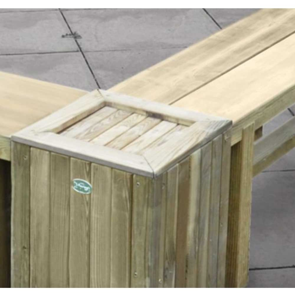 Wooden Double Sleeper Garden Bench Planter/Table Forest