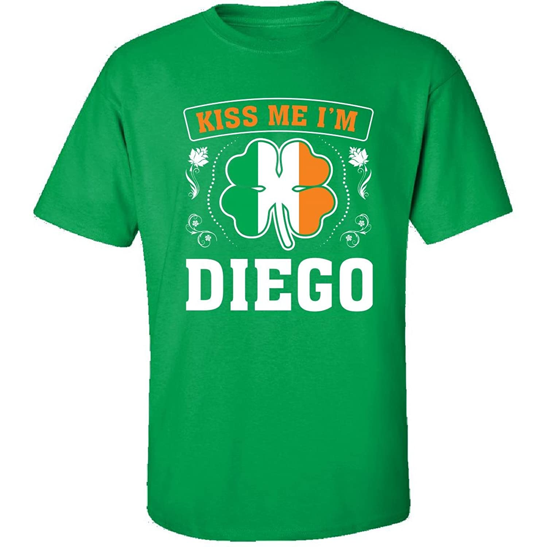 Kiss Me Im Diego And Irish St Patricks Day Gift - Adult Shirt