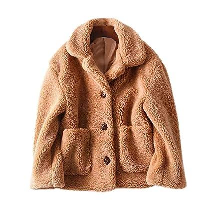 HhGold Abrigo de Invierno Escudo de Las señoras, Moda de Invierno de Las Mujeres Casual