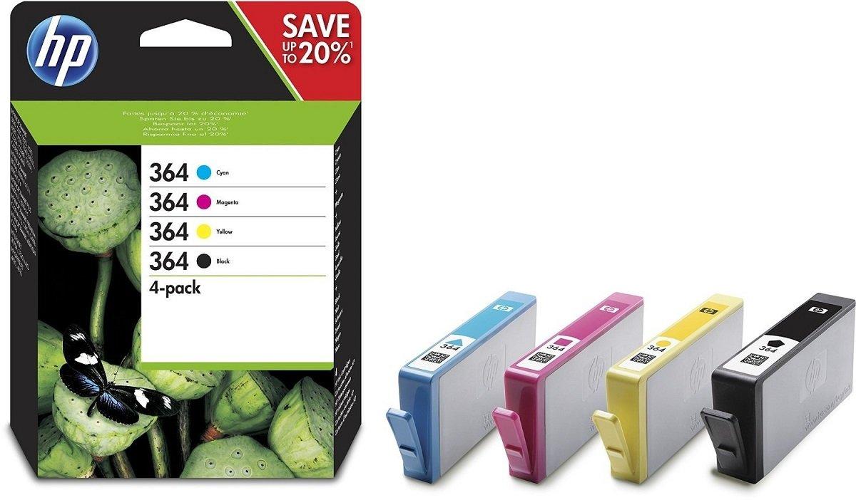 HP 364 Cartuccia Originale Getto d'Inchiostro, Standard, Nero + Tricromia N9J73AE Cartucce Ink stampante