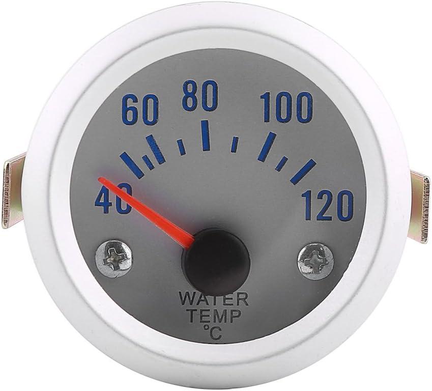Qiilu 52 mm 5,1 cm Auto Wassertemperaturanzeiger Messger/ät mit Digital Blau LED Reichweite