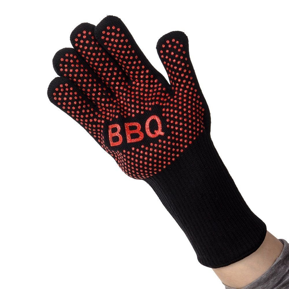 Heat Resistant Gloves Hot Protective Pot Heatproof Glove BBQ Grill Oven Kitchen