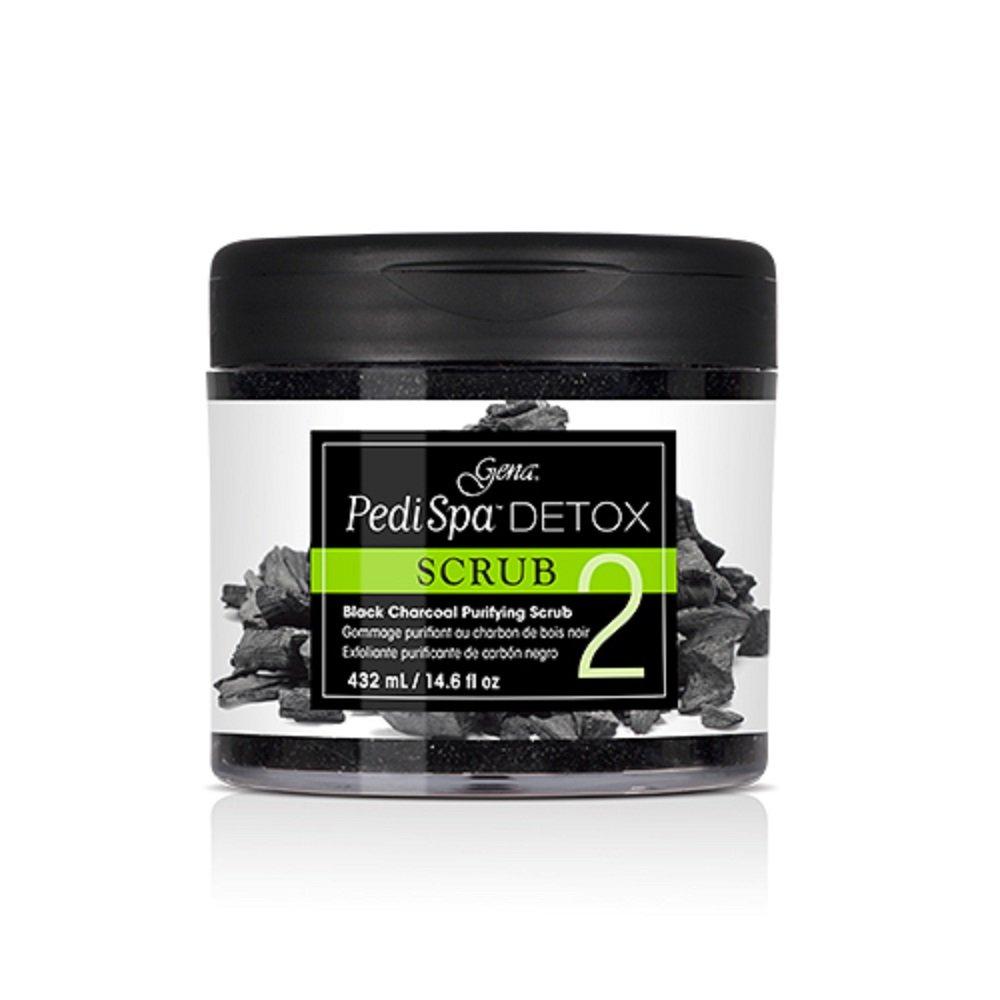Gena Pedi Spa Detox Black Charcoal Scrub 14.6 oz by Gena
