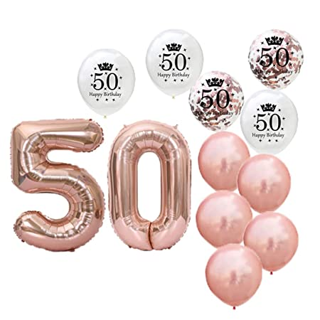 Globos de látex para decoración de fiesta de 50 cumpleaños ...