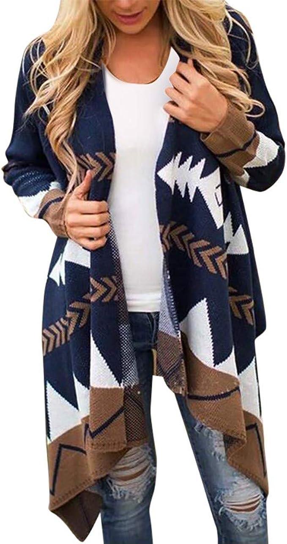 Women Long Cardigan Coat Long Sleeve Casual Loose Sweater Jacket Chic Autumn HX