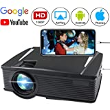 Wireless Projector 2200 Lumen, WEILIANTE WiFi LCD Mini Movie Projector for Home Outdoors, WiFi Directly Connect with Smartphones, 50000 Hours Lamp Life, Support Full HD, HDMI,VGA,AV,USB,SD