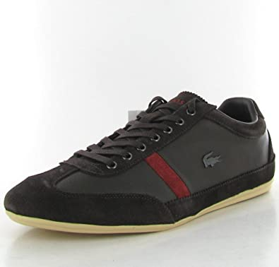Lacoste Misano 22 Leather Sneakers - Dark Brown (Mens) - 11
