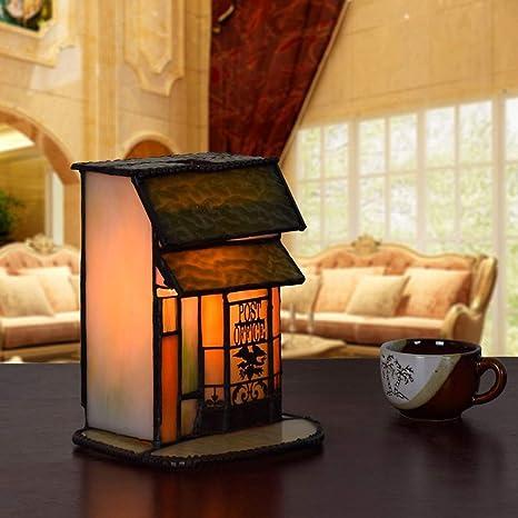 Estilo europeo Tiffany Luz de noche Lámpara de escritorio de ...