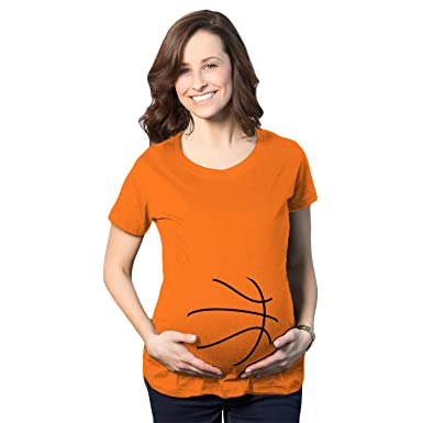 8cb9c58e Crazy Dog T-Shirts Maternity Basketball Bump Announcement Funny Pregnancy  Gift Tee for Ladies (
