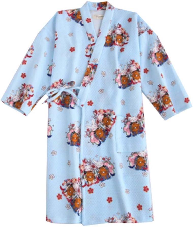 Dragon Troops Falda de Kimono Pijamas de algodón Estilo Albornoz de Mujer Estilo japonés (Grueso), A10: Amazon.es: Hogar