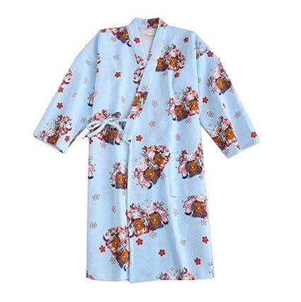 Falda de kimono pijamas de algodón estilo albornoz de mujer estilo japonés (grueso),