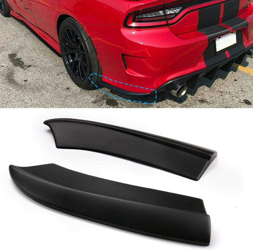 S SIZVER SRT-Style Black Rear Bumper Lip Aprons Polyurethane Compatible with 2015-2019 Charger