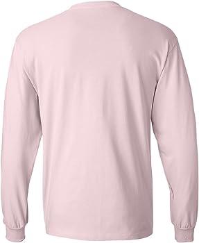 Hanes Camiseta sin mangas de manga larga para hombre, 2 piezas, peque?a, 1 rosa p¨¢lido / 1 real: Amazon.es: Ropa y accesorios