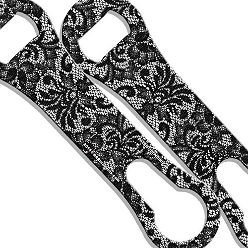 Cheap V-Rod Bottle Opener – Black and White Lace