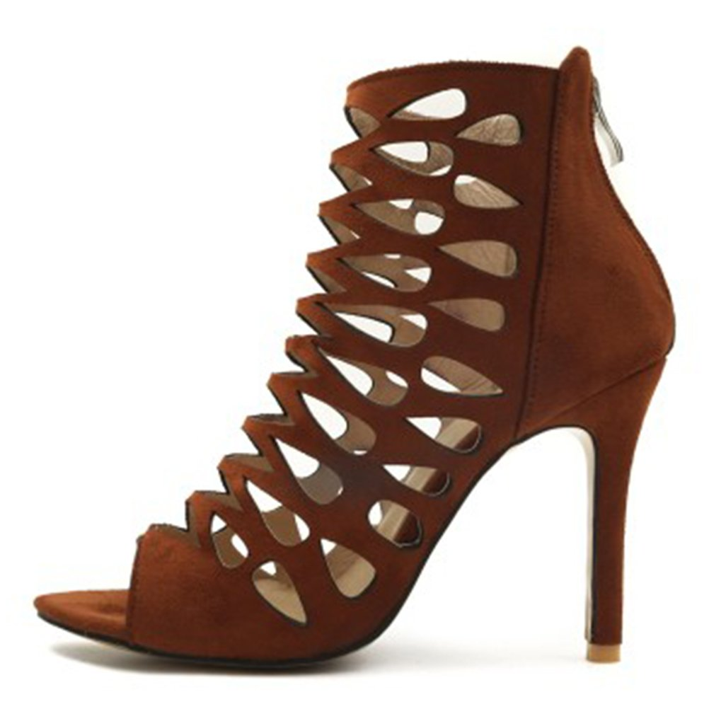 Rivets Gladiator Peep Toe Sandals Women Ankle Boots High Heels Fashion Shoes New
