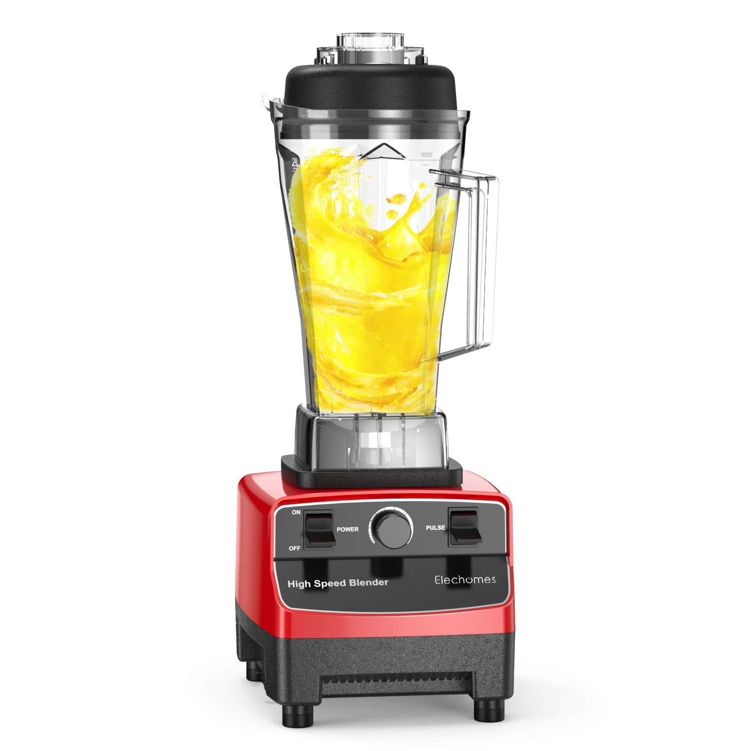 1200W Commercial Blender - Elechomes High-Speed Blender, Professional Kitchen Smoothie Blender Maker with BPA-Free Pitcher, Commercial Heavy Duty Food Processer(FDA Certified)