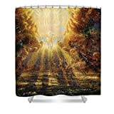 Pixels Shower Curtain (74'' x 71'') ''Come Lord Come''