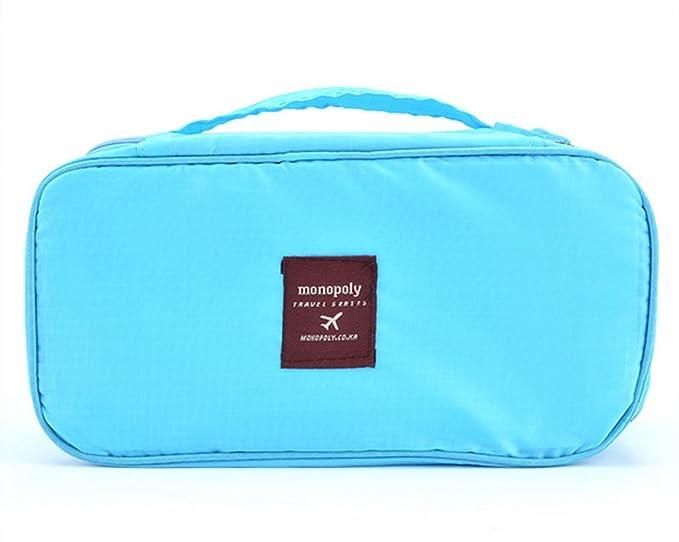 Neceser - All4you moda ropa interior multifunción Bolsa viaje bolso cosmético Bag(Blue2): Amazon.es: Equipaje
