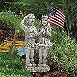 Cheap Design Toscano Patriotic Flag Children Statue