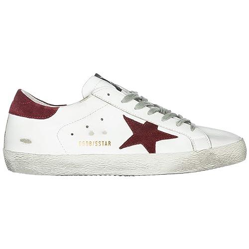 Golden Goose Zapatos Zapatillas de Deporte Hombres en Piel Superstar Blanc: Amazon.es: Zapatos y complementos