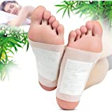 100 Pcs Detox Foot Pads,Natural Slimming Patch Loss Weight Remove Body Toxins Relief Stress Improve Sleep