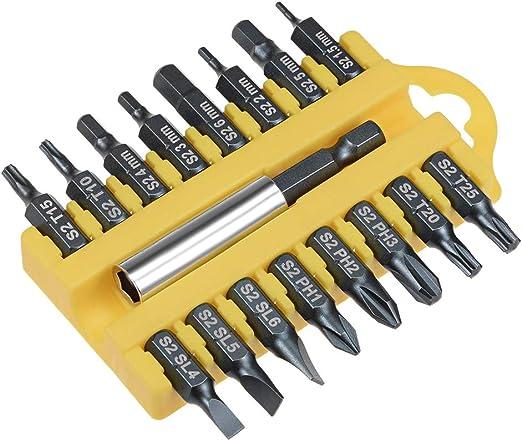 10pc PH2 Pozi #2 Power Drill Screwdriver BIT SET Long Reach Non Slip 1//4/'/' Hex