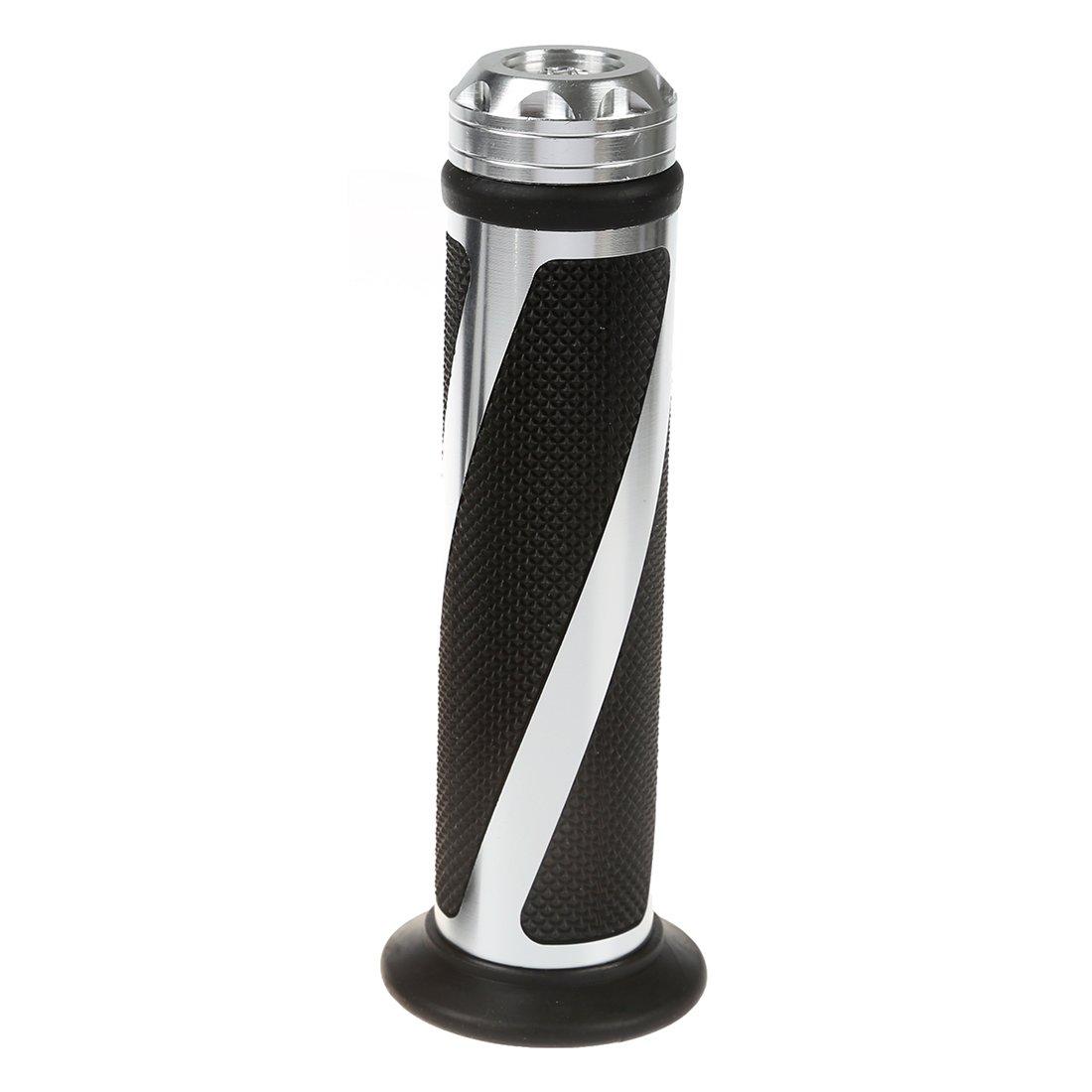 SODIAL(R) Paio Manopola in Alluminio Gomma 7/8' per Manubrio Moto Universale 054580