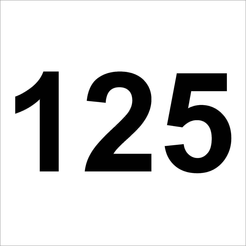 3 mal Nummer 35  hochwertige Zahlenaufkleber aus Hochleistungsfolie wetterfeste M/ülltonne,M/ülltonnen Nummer Hausnummer Zahlen Uahlenaufkleber 20 cm hoch Briefkasten Aufkleber schwarz ohne Hintergrund