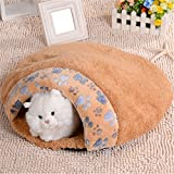 Coco*store Soft Warm Cat/dog Kitten Cave Pet Bed House Puppy Sleeping Mat Pad Igloo Nest (camel)