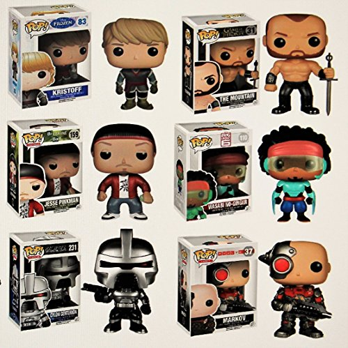 "Funko POP Exclusive Mystery Starter Pack Set of 6 ""Includes 6 Random Funko POPS Will Vary and No Duplicates"""