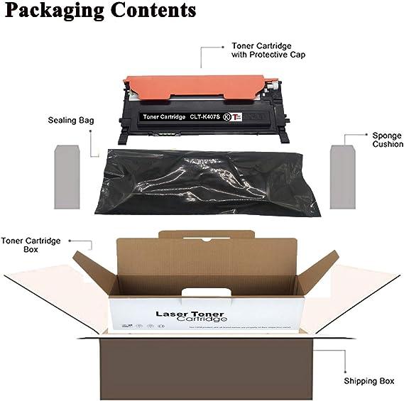 TonerSave CLT-407S Toner CLT-K407S CLT-C407S Toner CLT-M407S CLT-Y407S Cartridge for Samsung CLX-3180 CLP-325W CLP-320N CLX-3185 CLX-3185FW CLP-320 CLP-325 CLX-3185N CLP-321N CLP-326 CLX-3185W Printer
