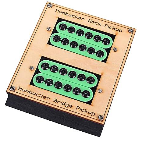 Sharplace Juego de 2 Guitarra Eléctrica Imán de Cerámica Pastilla Humbucker para Les Paul - Verde