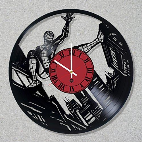 [Vinyl Record Wall Clock Spider Man Peter Superhero Parker decor unique gift ideas for friends him her boys girls World Art Design …] (Spider Man 2099 Costume Design)