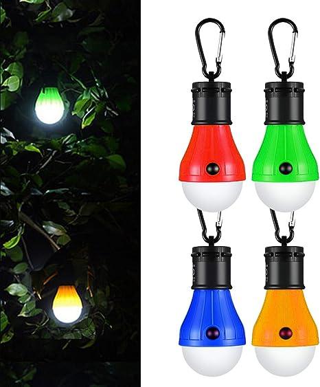 Hovast LED Lámpara Camping,[4 Paquetes] Portátil Lámpara de Tienda Impermeable Luz Tienda de Campaña Luz Acampada Luces de Emergencia Alimentada para ...