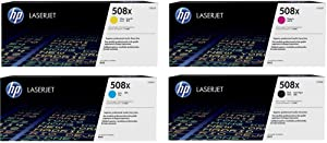 HP 508X (CF360X, CF361X, CF362X, CF363X) Cyan, Magenta, Yellow and Black Original LaserJet Toner Cartridges