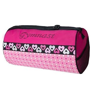 New Dance Bag Sassi Designs Black And Pink White Polka Dot Gymnast Bag
