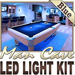 Biltek 16.4' ft Blue Home Theater Room TV Remote Controlled LED Strip Lighting SMD3528 Wall Plug - Sports Memorabilia Bar Theatre Room TV Liquor Aquarium Wine Cellar Dart Board Waterproof 110V-220V