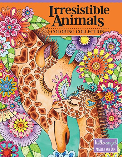 Hello Angel Irresistible Animals Coloring Collection (Design Originals) 32 Adorable Designs include Cats, Dogs, Owls, Otters, Sloths, Elephants, Koalas, Foxes, Giraffes, Llamas, Bunnies, and More -