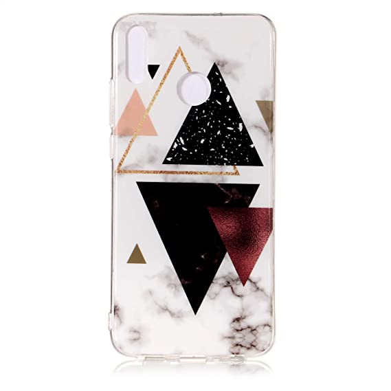 Honor 8X Case, Glossy Marble Pattern Slim Hard Soft Silicone Back Case  Cover Fit for Huawei Honor 8X (1)