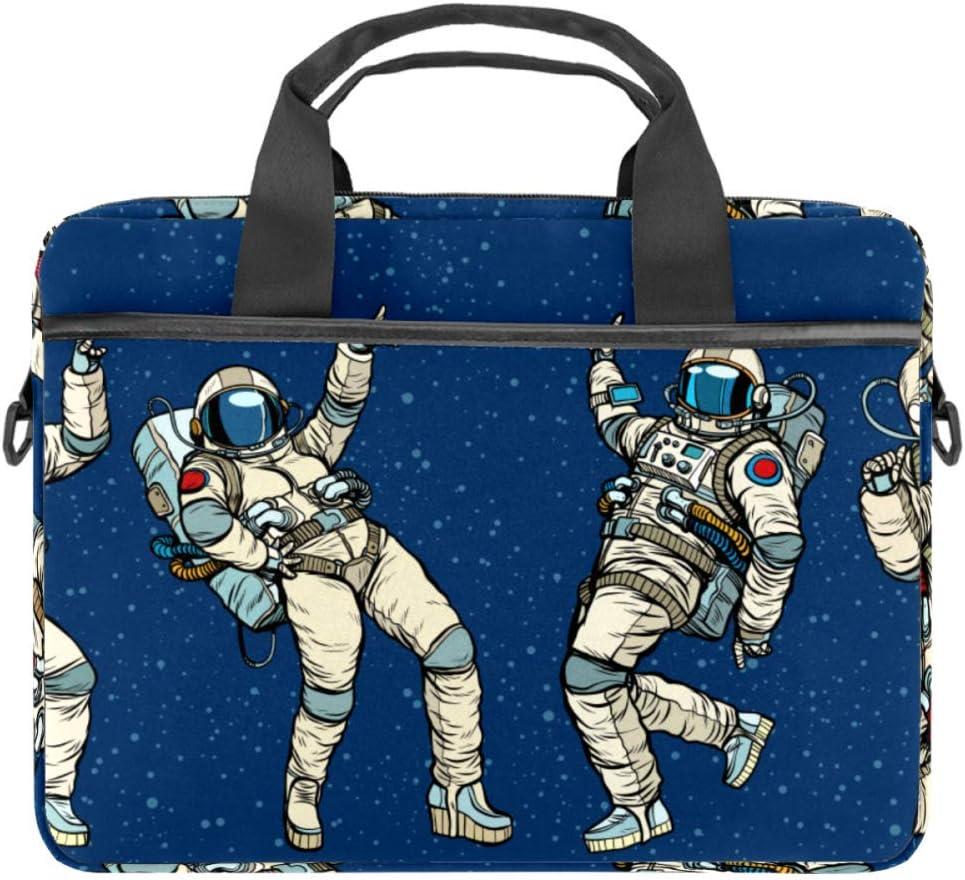 Dancing Astronaut Laptop Tote Bag Notebook Shoulder Bag Lightweight Multi-Pocket Business Work Office Briefcase for iPad Pro/Computer/MacBook