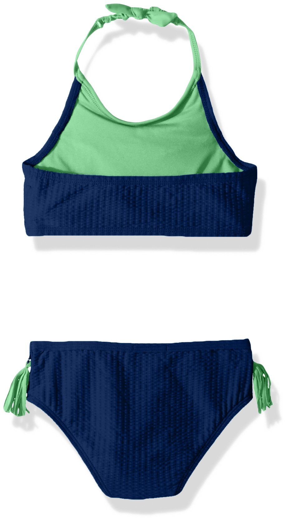 Jessica Simpson Little Girls' 2-Piece Bikini Swimsuit Set, Ruffle Front Navy, 6 by Jessica Simpson (Image #2)