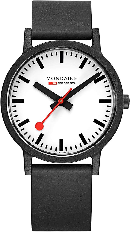 Mondaine Reloj Análogo clásico para Unisex de Cuarzo con Correa en Caucho MS1.41110.RB