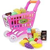 Coolplay ショッピングカート おもちゃ お買い物カート おままごと セット お店屋さんごっこ 手押し車(ピンク)