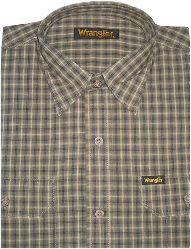 Wrangler B4088 – Tiempo libre Camisa, Army Green cuadriculado ...
