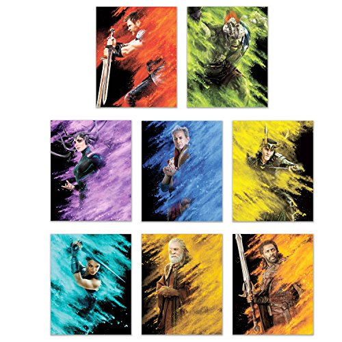 Thor Ragnarok  Prints - Set of 8 Marvel Thor and Hulk Movie