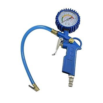 Solarnovo Manómetro Detección de Presión de Neumático para Ruedas de Coche Camiones Bicicletas Motocicletas para Seguridad 0-220PSI: Amazon.es: Coche y moto