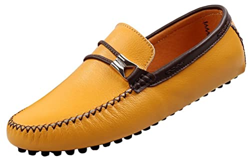 CFP - Botas mocasines hombre , color amarillo, talla 41: Amazon.es: Zapatos y complementos