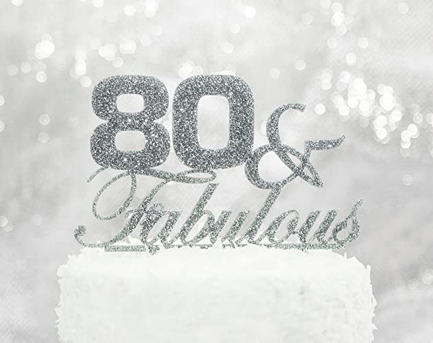 Amazoncom 80th Birthday Party Decor Cake Topper 80 Fabulous