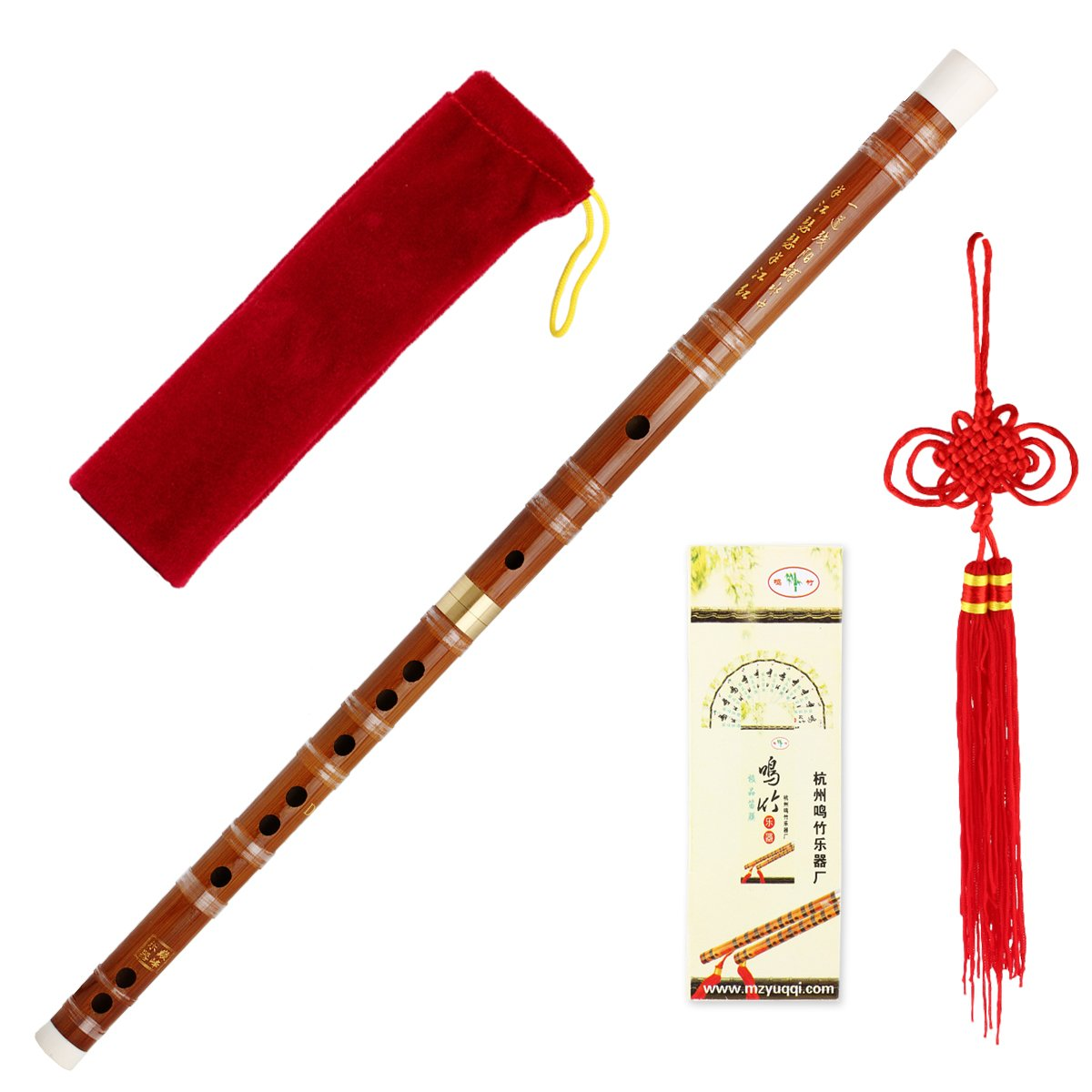 Traditional Handmade Chinese Musical Instrument Bamboo Flute Dizi in D Key 1 Set Ltd